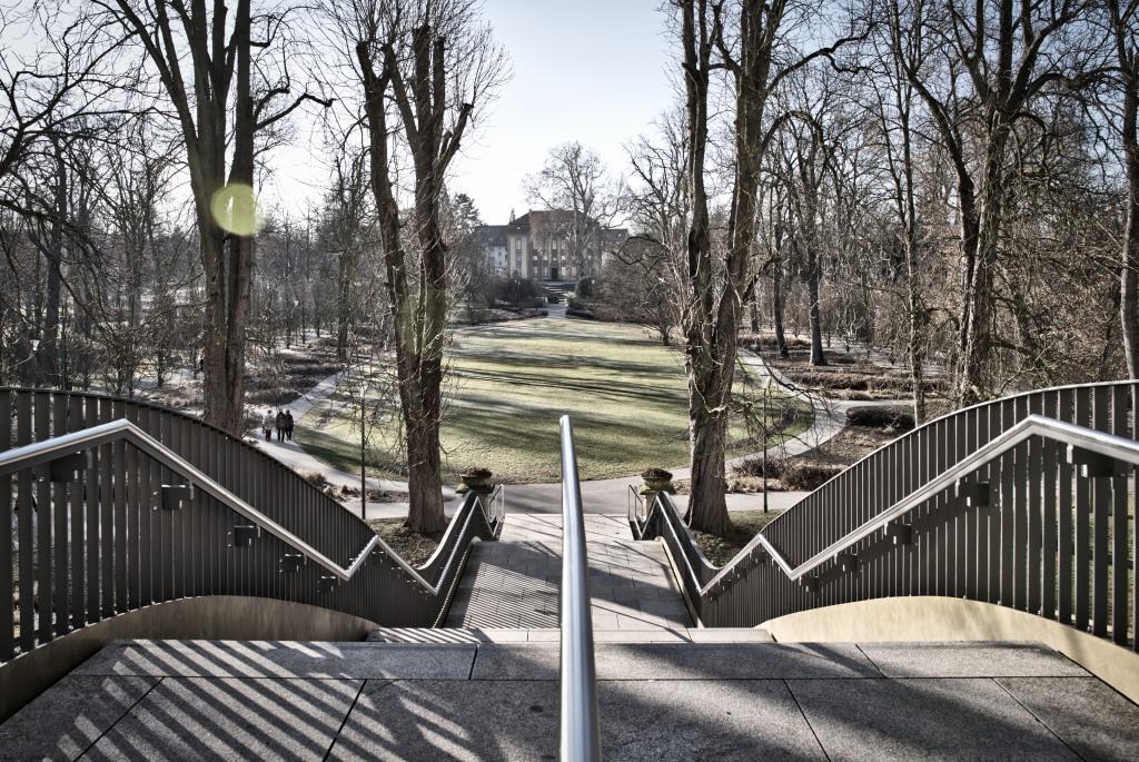 Treppe zum Park